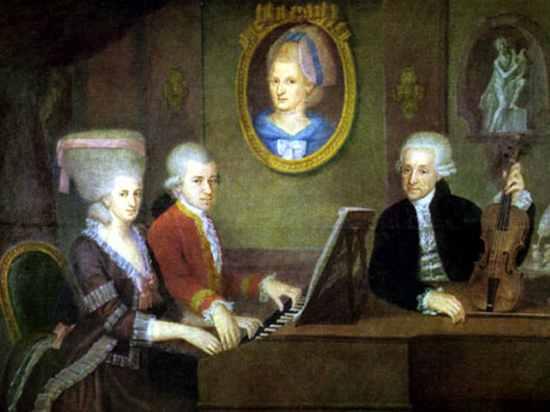 Mozart Family Portrait By Della Croce 1780-1
