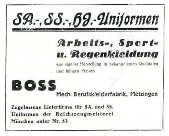 Boss 1933 Adv