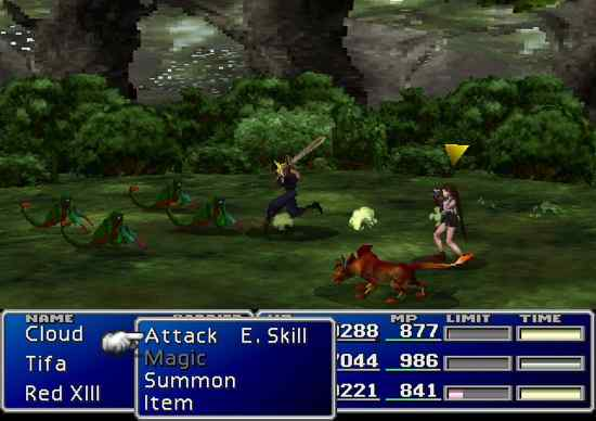 Final Fantasy Vii-Combat