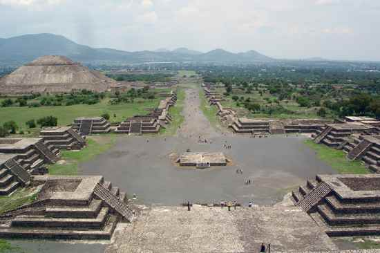 Teotihuacan-View-From-The-Pyramid-Of-The-Moon