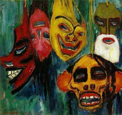 Nolde Masks Still Life  Iii 1911