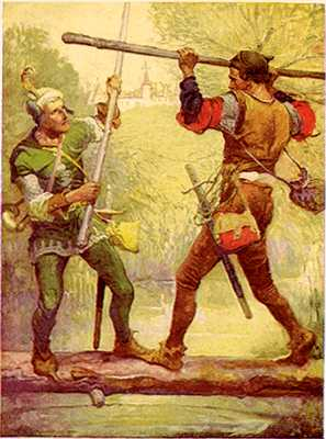 Robin Hood And Little John%2C By Louis Rhead 1912