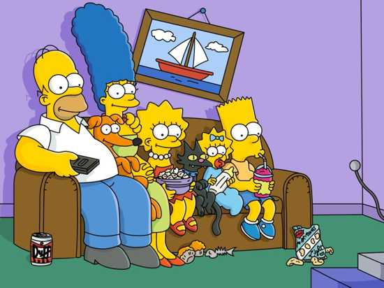 Simpsons-Sofa