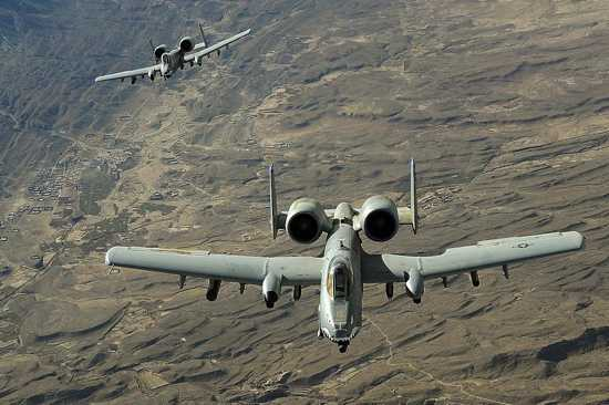 Two-A-10-Thunderbolt-Iis-In-Flight-Over-Afghanistan