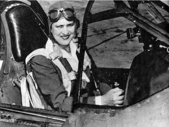 Jacqueline Cochran In P-40