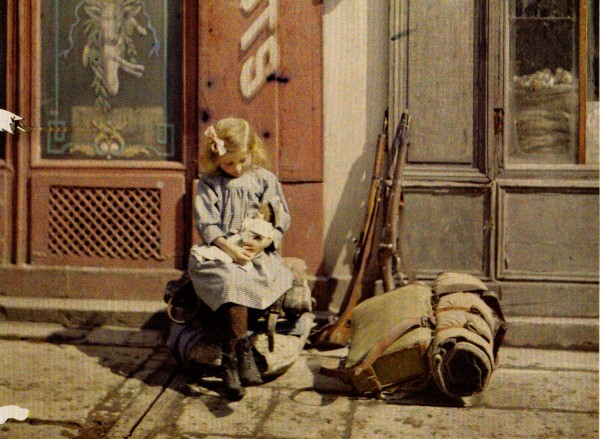 A Young Girl and Her Doll Reims, France, 1917
