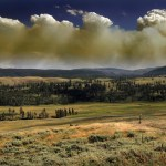 Wildfire in Yellowstone Park