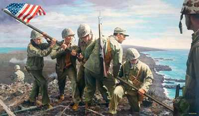 B Iwo Jima The First Flag
