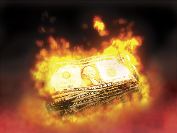 Bigstockphoto Burning Money 293915