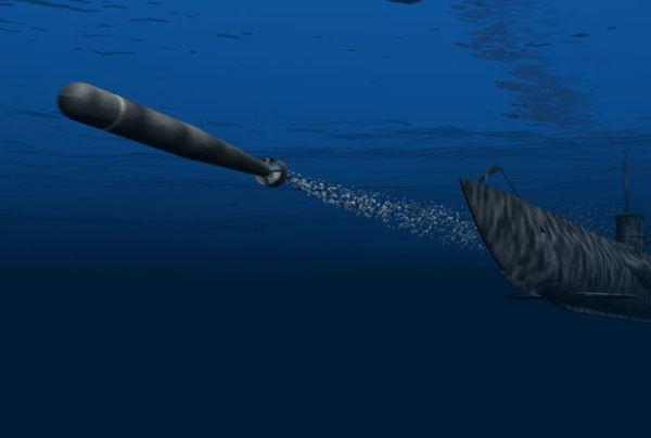 Submarine Fires Torpedo