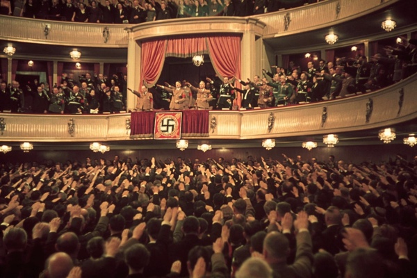 15 Adolf Hitler And Joseph Goebbels (In Box) At Charlottenburg Theatre, Berlin, 1939