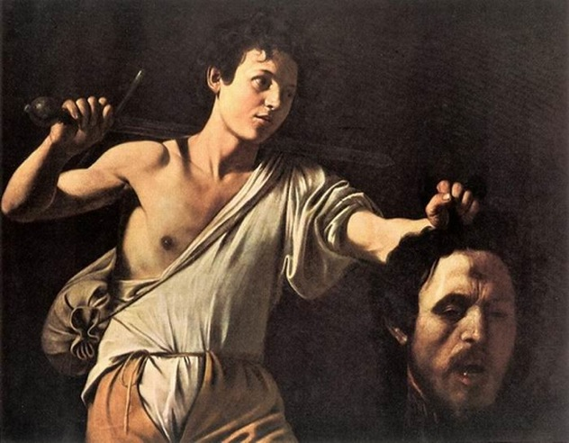 02-Baroque Caravaggio David-Holding-Goliaths-Head