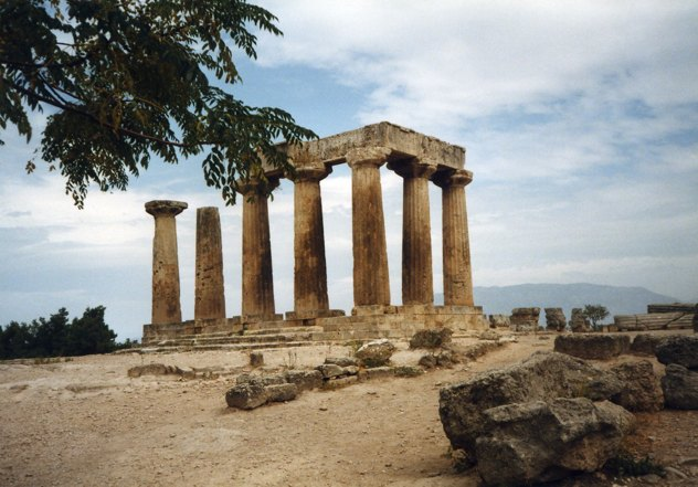 Greece Corinth Temple Of Apollo