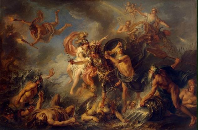 Achilles Artclon.Com Coypel Charles-Antoine-Zzz-Fury Of Achilles
