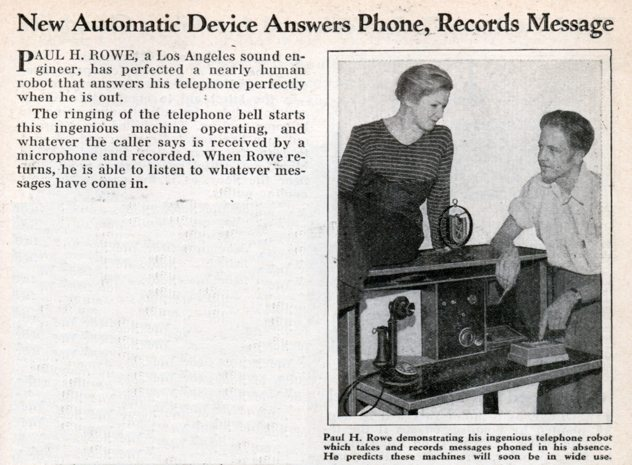when was the answering machine invented