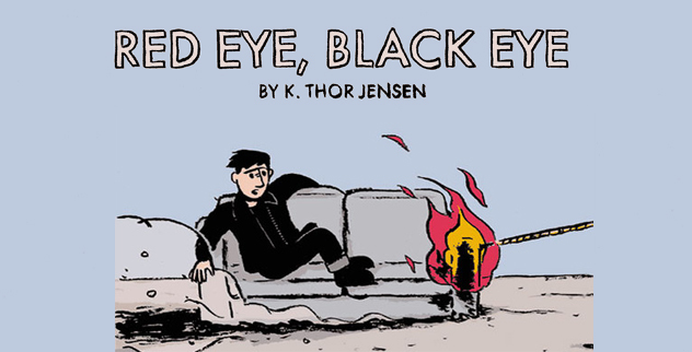 Red Eye Black Eye Image