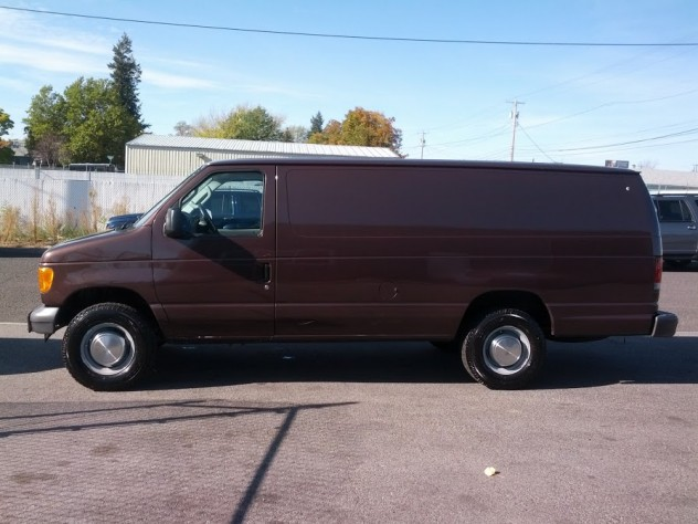 brown van