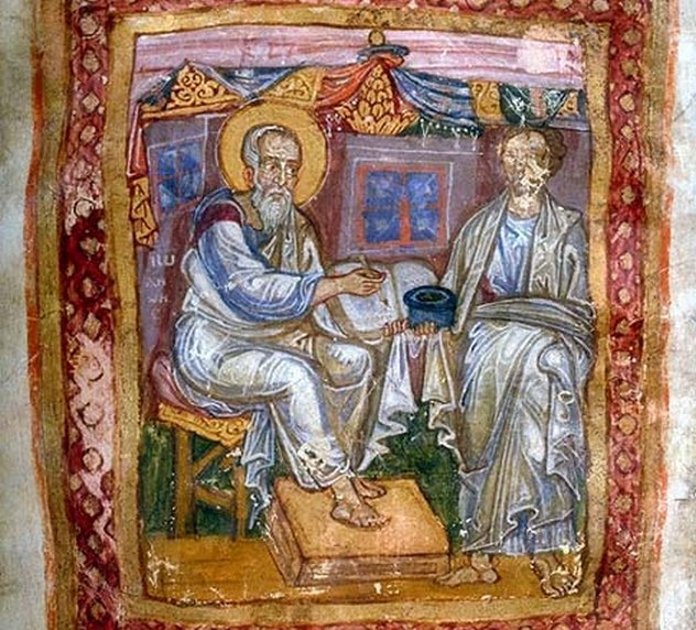 8_Apostle_John_and_Marcion_of_Sinope,_from_JPM_LIbrary_MS_748,_11th_c