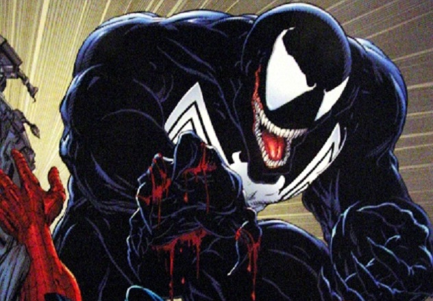 Spiderman-vs.-Venom-in-Comic-Book
