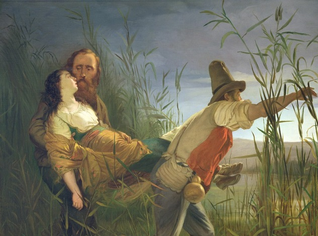 Garibaldi_carrying_his_dying_Anita_through_the_swamps_of_Comacchio_(oil_on_canvas)