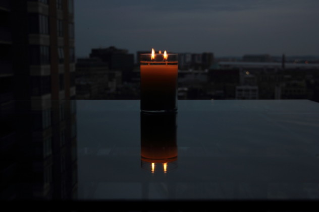 Candle by Window