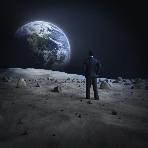 looking at drawing the moon from earth - photo #9