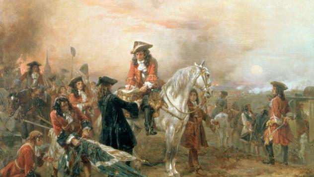 Duke-of-Marlborough-signing-Despatch-Blenheim-Bavaria-1704