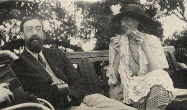 NPG Ax141463; Lytton Strachey; Virginia Woolf (nÈe Stephen) by Lady Ottoline Morrell