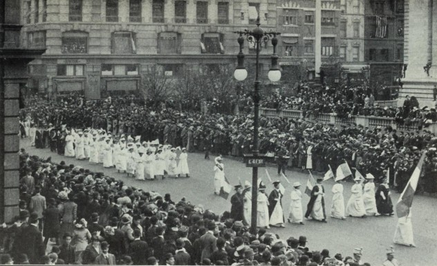 the women s suffrage movement in america A look back at history shows that women have made great strides in the fight for equality, including women's suffrage and inroads in equal opportunity in the workplace and education.