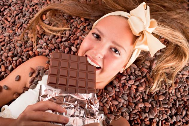 3- chocolate makes you smart