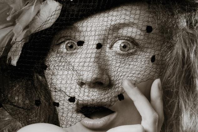 Shocked 1920s Moviegoer