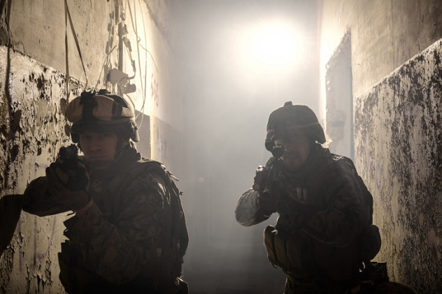 Two U.S. Marines involved in the raid.