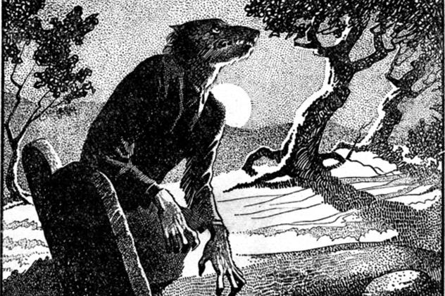 8- gothic horror werewolf weird tales