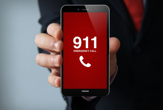 emergency call businessman smartphone