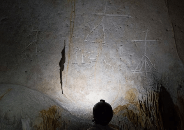 Mona Island Cave Graffiti