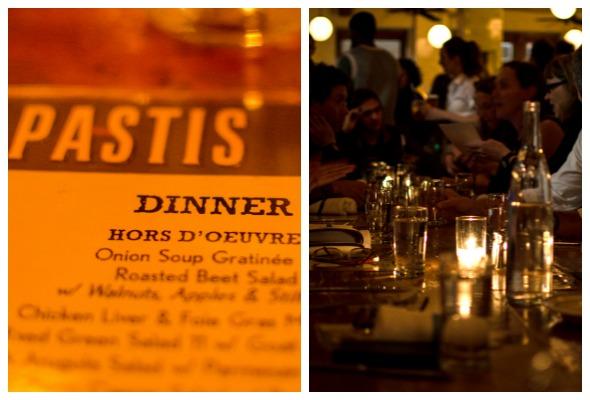 Pastis Dinner NYC