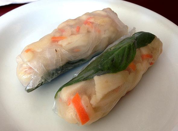 Basil Moo Shu rolls