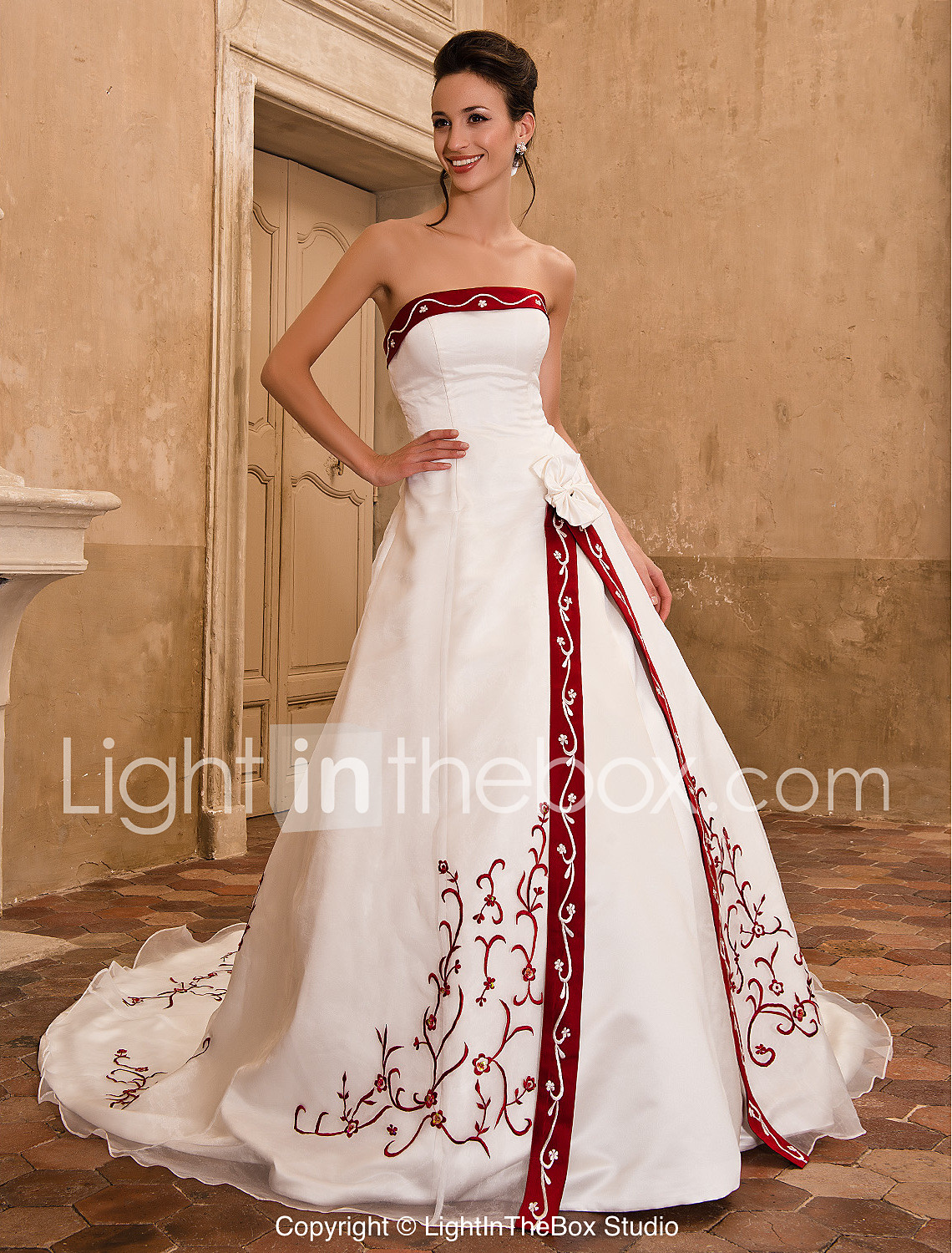 A Line Wedding Dresses With Color color wedding dresses LAN TING BRIDE A line Princess Wedding Dress Classic Timeless Elegant Luxurious