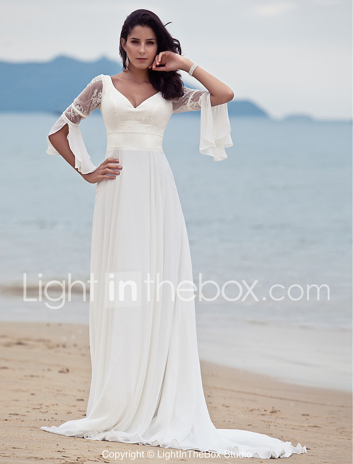 wedding dresses affordable wedding dresses LAN TING BRIDE A line Wedding Dress Classic Timeless Chic Modern Vintage