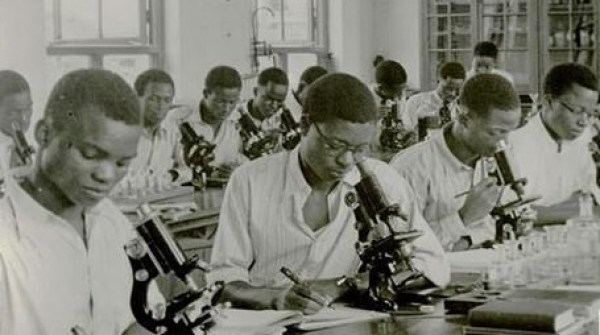 Students at Protozoology Class Yaba Higher College 1947