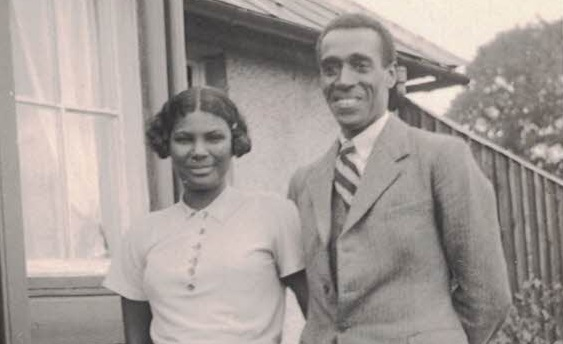 Dr. Akinwande Savage with his first wife, nee Phyllis Frances Heroina Ribeiro who died in 1940