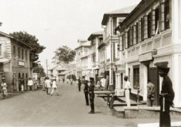 Tunde King's childhood neigbourhood, Lagos Island in 1925.