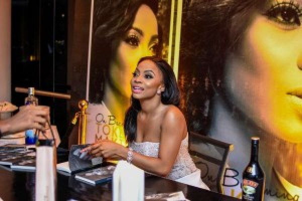 Toke Makinwa, Radio Host, at the launch of her book, On Becoming