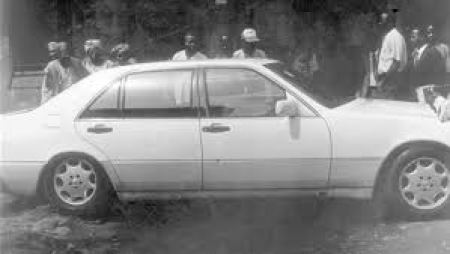 NADECO pro-democracy activities peaked with the assasination, while in this car, of Kudirat Abiola, wife of the denied winner of 1993 elections.