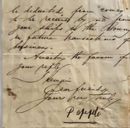 William Dappa Pepple letter in 1860