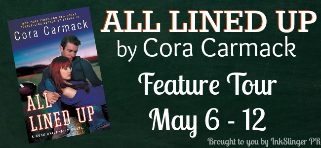ALL LINED UP by Cora Carmack ~ Feature Tour, 5 Star Review, Author Interview & Giveaway