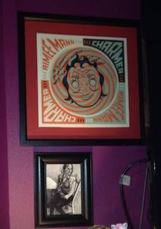 Charmer on vinyl, signed, framed…