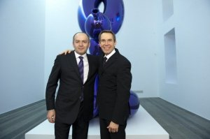 Viktor Pinchiuk and Jeff Koons at the opening of the S&T show