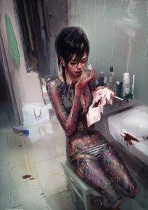 Yakuza Girl by Michal Lisowski