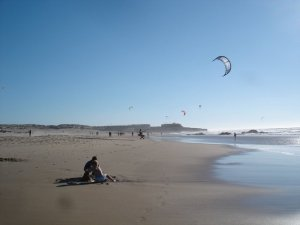 the surfers' beach in guincho, portugal